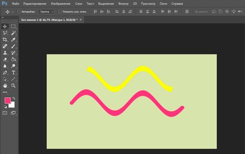 Как быстро провести прямую и красивую линию в Photoshop
