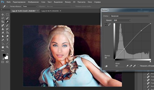 Как наложить тень на объект в фотошопе