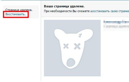Как правильно восстановить страницу Вконтакте после её удаления