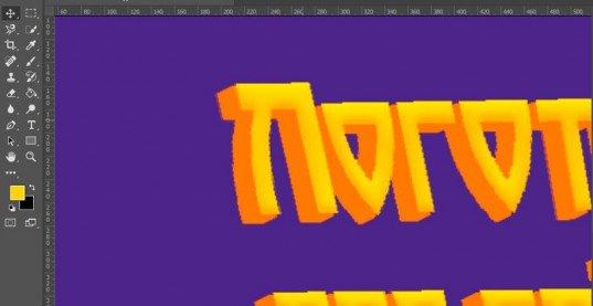 Как быстро сделать объёмные красивые буквы в Photoshop