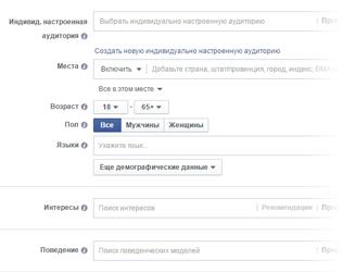 Рекламные возможности Facebook