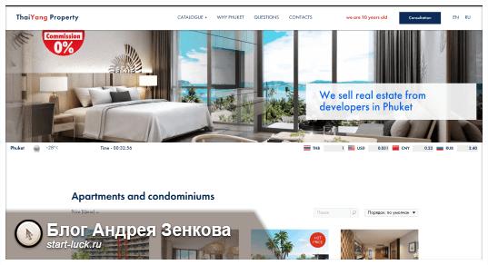 Сайт-каталог недвижимости