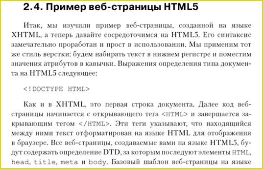 Пример веб-страницы HTML